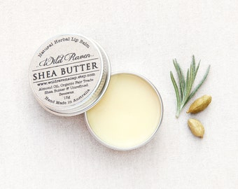 Shea Butter Lip Balm // Handmade with All Natural Herbal Ingredients // Palm Oil Free