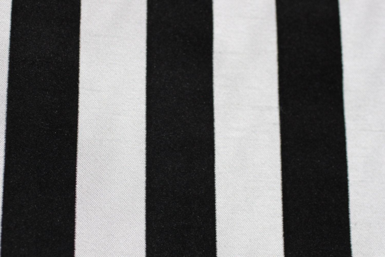 Fabric Dior Stripe Black White Stripe Velvet Fabric For