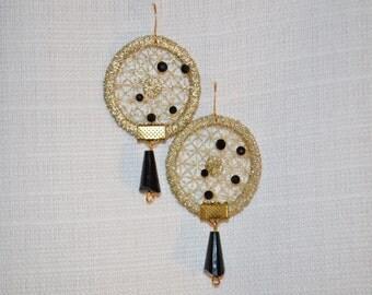 Lace  Statement  Earrings,crystal, Swarvorski