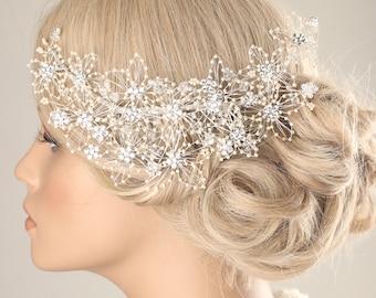 wedding hair piece, bridal pearl hairpiece, Bridal accessory, wedding hair comb, bridal hair pin , pearl hair comb, pearl hairpiece