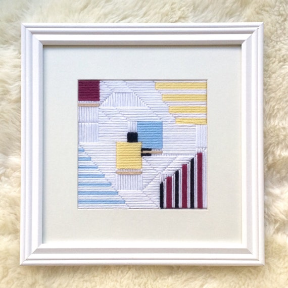 Yarn Art Framed Colors Embroidered Wall Art