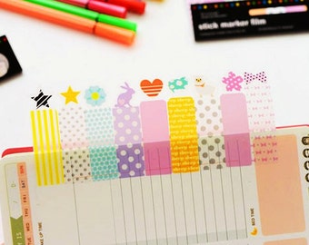 PVC Page Flag Sticky Notes • Post it • Marker • Transparent Sticky Notes