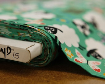 Green Lams And Zzz Quilting Fabric