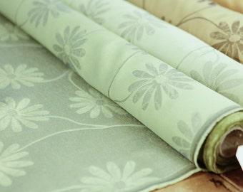 Sheer GreenDaisy Print | 54 Inch | Fabric