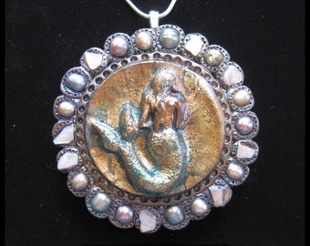 Mermaid Magic Totem/Talisman Pendant/Necklace - with Mother of Pearl