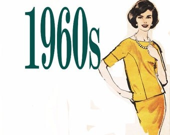 Jackie O Dress 2 Piece Dress ADVANCE 9858 sz 10 b 31 1960s Pencil Skirt Pattern Vintage Skirt Suit Wiggle Skirt 1960s Dress Pattern