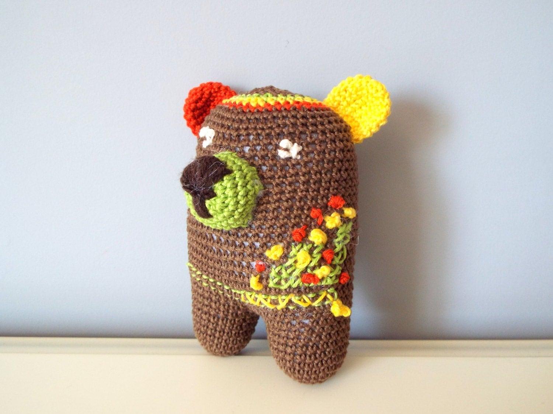 Crochet small teddy bear Amigurumi Teddy Home decor Kids ...