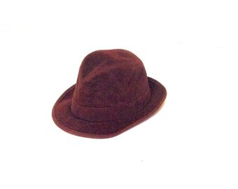 70s chocolate brown fedora hat