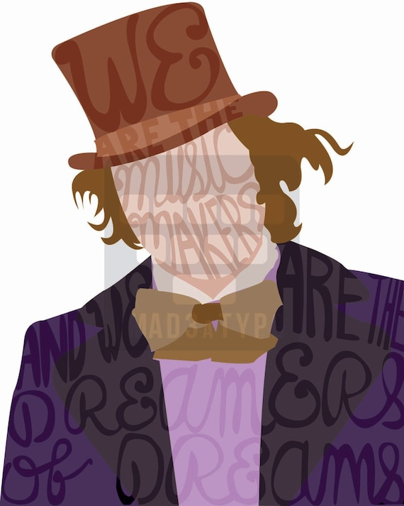 Willy Wonka Typography Print (INSTANT DIGITAL DOWNLOAD