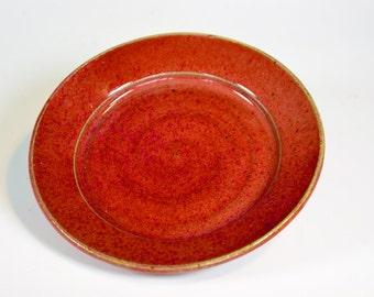 Vegas Red Swirl Plate