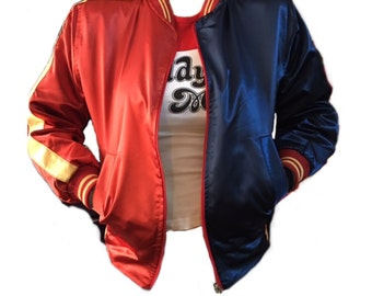 HARLEY QUINN JACKET Suicide Squad Free Express Shipping