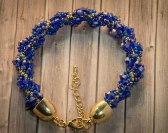 """Pearl bracelet """"Deep Ocean"""""""