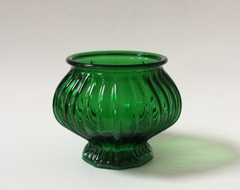 Vintage E.O. Brody Emerald Green Glass Planter, E. O. Brody Green Glass Planter, Green Glass Planter Vase,
