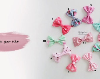 Choose Your Color- any 2 - Hair Bow French Barrette, Pink, Mint, Blue, Hair Accessories