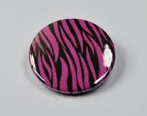 Zebra print punk badge - 25mm