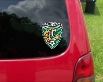 2 Pieces Jaguares De Chiapas Futbol Mexico  Decals Stickers Full Color/Weather Proof. U.S.A Free Shipping