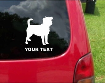 Set (2 Pieces)  Affenpinscher Dog  Sticker Decals with custom text 20 Colors To Choose From.  U.S.A Free Shipping