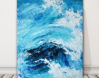 large ocean wave painting, large original seascape, modern ocean painting
