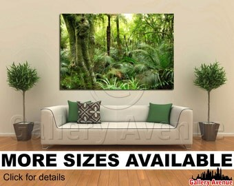 Wall Art Giclee Canvas Picture Print Gallery Wrap Ready to Hang - Tropical Forest - 60x40 48x32 36x24 24x16 18x12 3.2