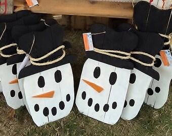 Christmas pallet Snowman