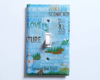 Nature Lover - Gift for hikers - Hiking light switch cover - Outdoorsy - Hiking decor - Fitness Healthy Living - Hiking Gift - Outdoor hike