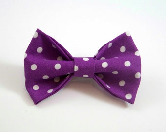 Purple Polka Dot Bow. Polka Dot Hair Bow. Baby Hair Bow. Toddler Hair Bow. Purple Toddler Bow. Purple Baby Bow. Toddler Hair Clip.