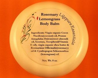 Rosemary Lemongrass Body Balm 8 oz