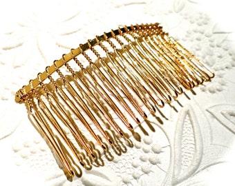 Gold Hair Combs Set of 2 Hair Accessories BT-107