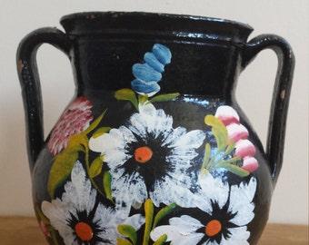 Vintage Mexican Floral Vase