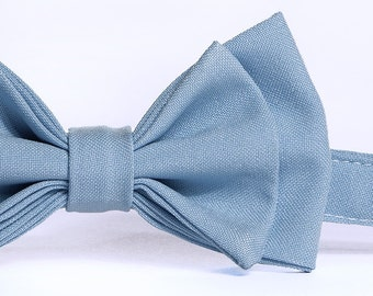 Light Blue Bow Tie -- Baby Bow Tie, Toddler Bow Tie, Boy Bow Tie, Adult Bow Tie -- Father Son Matching Bow Ties