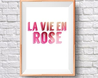 La Vie en Rose - Digital print