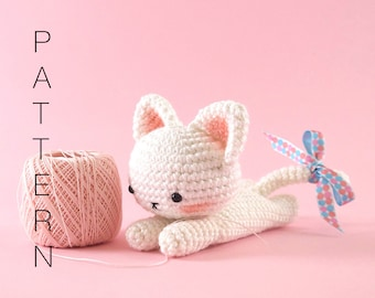 Amigurumi crochet cat PATTERN ONLY (English)