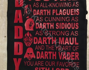 Star Wars Father Day Shirt Darth Vader Disney