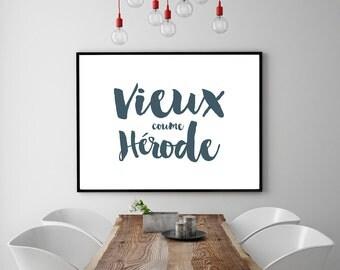 PRINT-Vieux coume Erode, French Acadian, Français Acadien