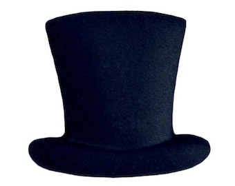 12 Top Hat Pre-Made Ready To Use Edible Cupcake Sugar Decorations