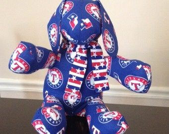 "My ""Texas Rangers"" stuffed puppy dog."