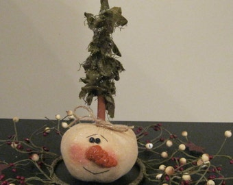 Holiday Decoration - Snowman - Christmas Tree - Shelf Sitter