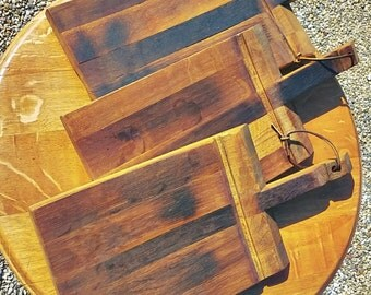 Wine Stave Cutting Board With Maple Inlays By Barrels2remember