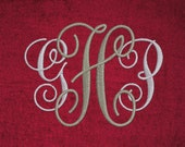 Interlocking Monogram Embroidery Fancy Swirly Font Machine Design Alphabet 26 Letters 8 sizes Vine Monogram Font INSTANT DOWNLOAD 081