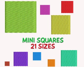 Mini Squares Embroidery Design,  21 sizes DIGITAL INSTANT DOWNLOAD 134