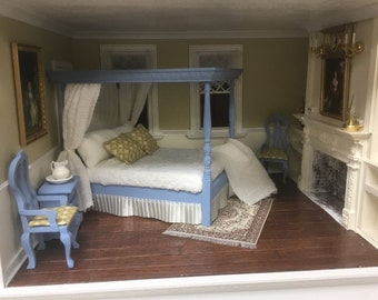 Dollhouse Canopy Bed Set