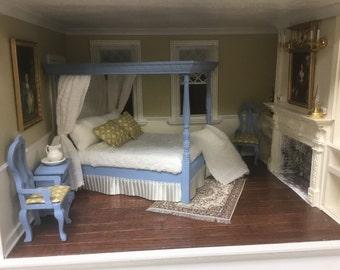Dollhouse Canopy Bed Set