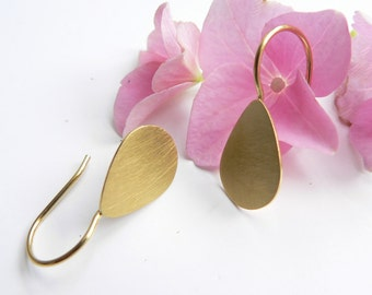 Earrings drop gold
