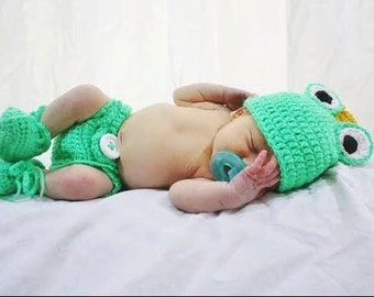 Frog Prince Diaper Cover Set