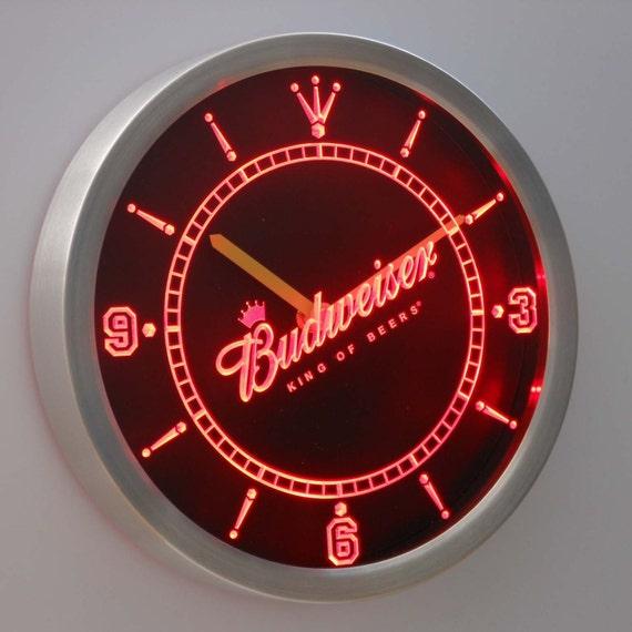 Budweiser Clock 3d Neon Sign Led Clock Wall Clock By