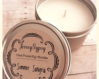 8 oz. Summer Sangria Soy Candle