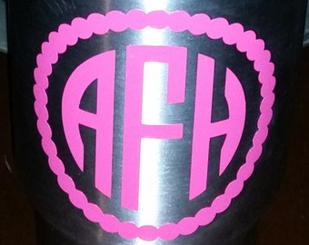 Monogram Decal -  3 inches tall