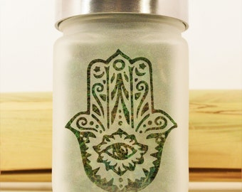 Hand of Fatima Hamsa Stash Jar - Spirituality, Zen, Alter Gift