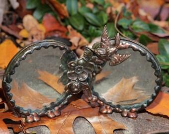 Vintage Copper beveled Mirror/photo frame
