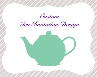 Tea Party Invitation Design